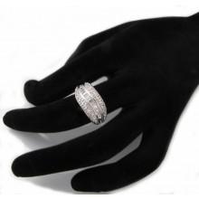 Stříbrný prsten se zirkony KPS115