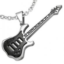 Přívěsek kytara-Chirurgická Ocel (KPR071)