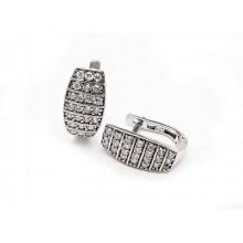 Stříbrné náušnice s briliantovým vzorem (KNAS021)