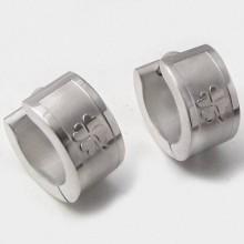 Náušnice s čtyřlístky z chirurgické oceli (KNA018)