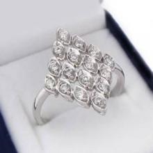 Luxusní stříbrný prsten (KPS124)