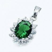 Přívěsek se smaragdovým kamínkem (KPR090)