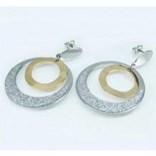 Náušnice kruhy z chirurgické oceli (KNA039)