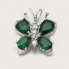 Přívěsek motýl - stříbrný (KPRS093)