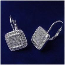 Italské stříbrné náušnice na klapku (KNAS141)
