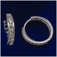 Stříbrné náušnice kroužky (KNAS139)