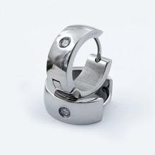Větší náušnice kroužky z chirurgické oceli (KNA59)