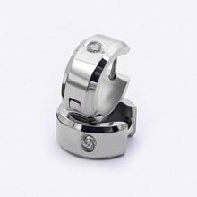 Větší náušnice kroužky z chirurgické oceli (KNA62)