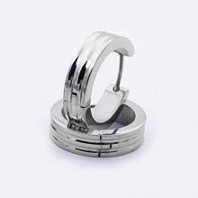 Větší náušnice kroužky z chirurgické oceli (KNA64)