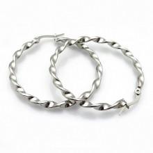 Náušnice kruhy z chirurgické oceli (KNA67)