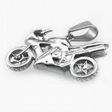 Přívěsek motorka z chirurgické oceli (KPR042)