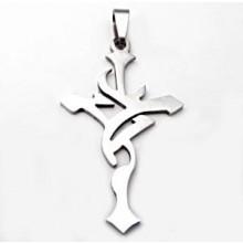Přívěsek kříž z chirurgické oceli (KPR003)