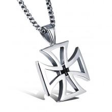 Přívěsek maltézský kříž z chirurgické oceli + řetízek (KPR109)
