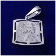 Stříbrný přívěsek-znamení blíženci