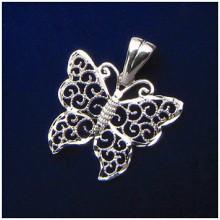 Stříbrný přívěsek motýl (KPRS145)