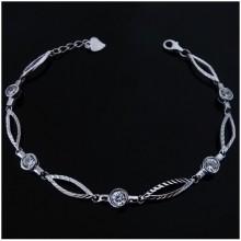 Dámský náramek ze stříbra (KNZS047)