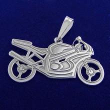 Stříbrný přívěsek motorka (KPRS038)