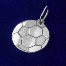 Přívěsek fotbalový míč ze stříbra (KPRS147)