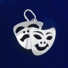 Stříbrný přívěsek herecká maska (KPRS169)