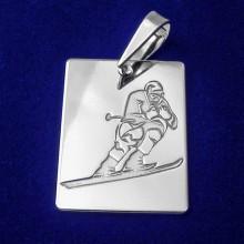 Stříbrný přívěsek lyžař (KPRS148)